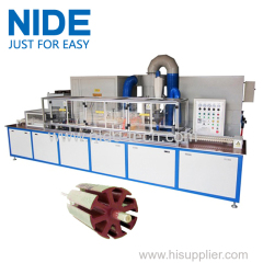 Servo epoxy powder coating machine With the touch screen for armature rotor