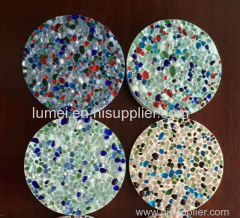 color glass beads mixed