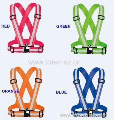 High Reflective Strap Vest Adjustable Elastic Running And Cycling Safety Equipments