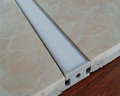 Floor aluminum profile for LED linear lights