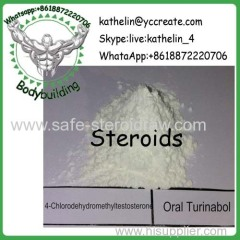 Steroid Raw Powder 4-Chlorodehydromethyltestosterone / Oral Turinabol For Bodybuilder CAS No.2446-23-3