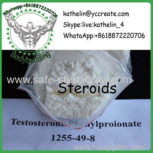 Steroid Hormone Powder Tes tosterone Phenylproprionate / Test PP For Bodybuilding CAS 1255-49-8