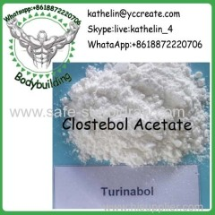 Steroid Raw Powder Clostebol Acetate / Turinabol / Chlorotestosterone Acetate CAS 855-19-6