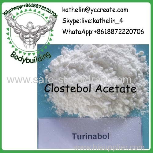 Steroid Raw Powder Clostebol Acetate / Turinabol / Chlorotestosterone Acetate CAS 855-19-6