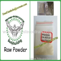 Female Esterogen RU-486 Abortion Raw Powder Mifepristone CAS No. 84371-65-3 for Anti-Pregnancy