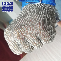 stainless steel cut resistant mesh glove