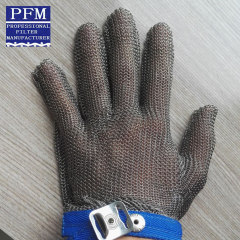 stainless steel butcher protective gloves