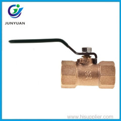One piece body reduced port blowout proof stem PTFE seats bronze valve ball