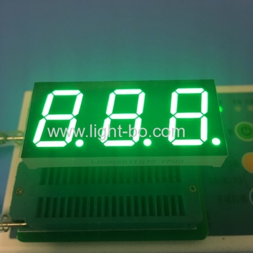 Pure Green  7 segment led display Triple digit 0.8  common anode for temperature humidity control