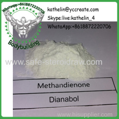Oral Steroid Powder Methandienone / Dianabol / D-Bol For Steroid Cycle CAS No. 72-63-9