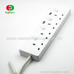 4 way extension lead with twin usb ports