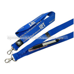 Polyester tube lanyard with pocket and compass function