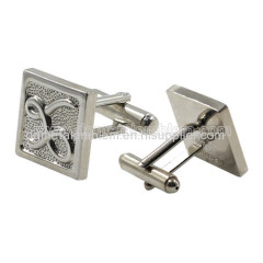 Metal brass without coloring square cufflinks