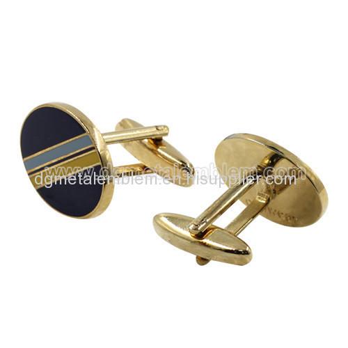 Brass imitation hard enamel cufflinks
