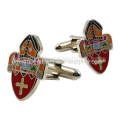 Metal brass soft enamel cufflinks
