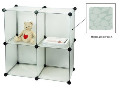 Portable White Color Storage Compartment PP Modular Storage Cubes
