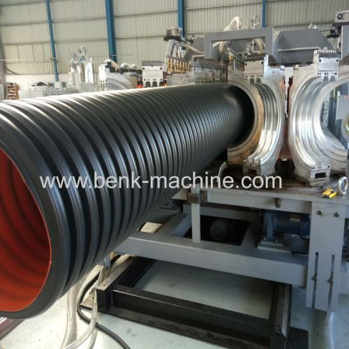 PE double wall corrugated pipe machine
