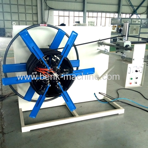 hdpe single wall corrugated pipe making machine