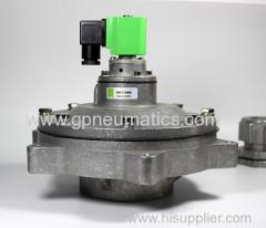 In line solenoid pulse valve
