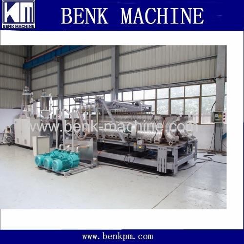 PE corrugated pipe making machine