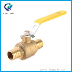 "PTFE Seats 400 PSIWOG Full Port 3/8""-1'' pex connection brass ball valve price"
