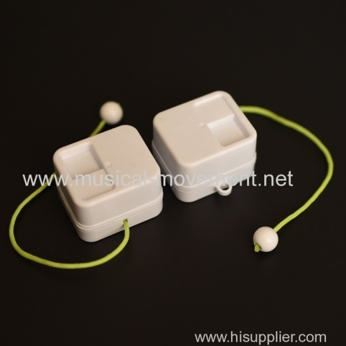 NEON GREEN CUSTOM PULL CORD MUSIC BOX