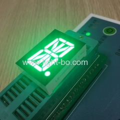 "Pure Green 16 segment led dispaly single digit 0.8"" common anode for temperature humidity control"