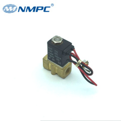 Small brass body water air oil gas pneumatic solenoid valve