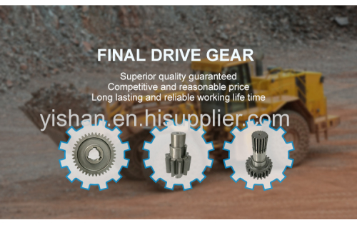 Construction Machinery Parts Final Drive Gear For Bulldozer  High Quality Small Bevel Gears Construction Machinery Gear