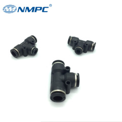 pneumatic air tee type connector hose fittings