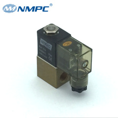 2/2 magnetic valve brass 1/8 small air valve