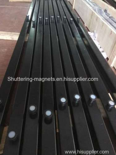 U-shaped magnetic formwork system magnetic shuttering shuttering magnets permanent magnet