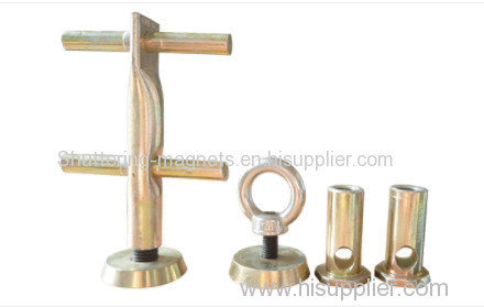 Inserted socked fixing magnets precast concrete insert fixing magnets