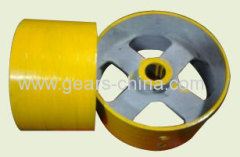 china manufacturer flat belt pulley