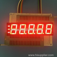 "Common Anode 0.56"" 5 digit 7 segment led display super red for digital indicator"