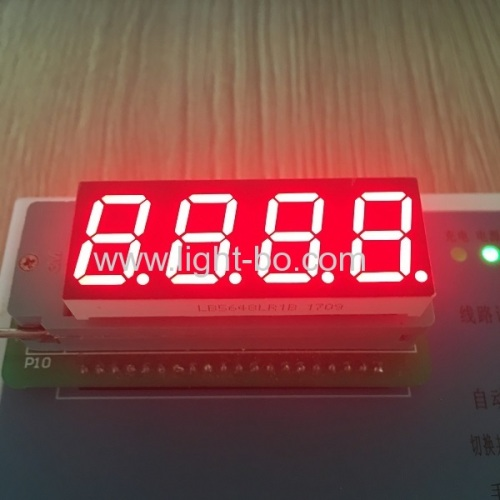 Super Red 0.56  4 digit 7 segment led display common cathode for instrument panel