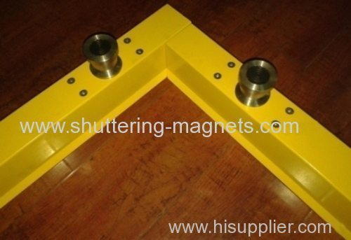 Aluminum magnetic sideform 80mm height precast concrete shuttering magnet