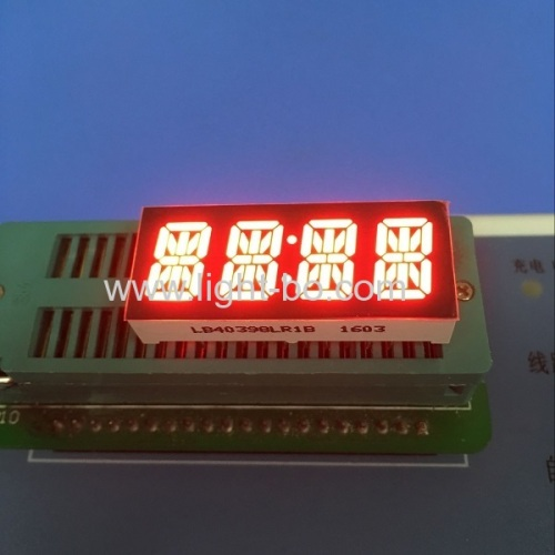 Custom super red coommon cathode 4 digit 0.39  14 segment LED Display for instrument panel