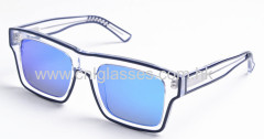 Hand made acetate rectangular elegant sunglasses for men