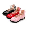 Round toe peals chain velcro girls dress sandals