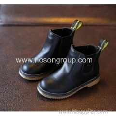 Clip on round toe girls and boys ankle boots