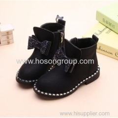 Girls inside zipper ankle boots