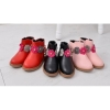 Children round toe zipper ankle boots