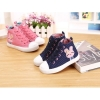 Girls cloth ankle casual zipper shoes