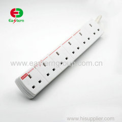 6 gang extension lead individually switched & surge protected