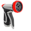 Metal 9-pattern garden water spray nozzle