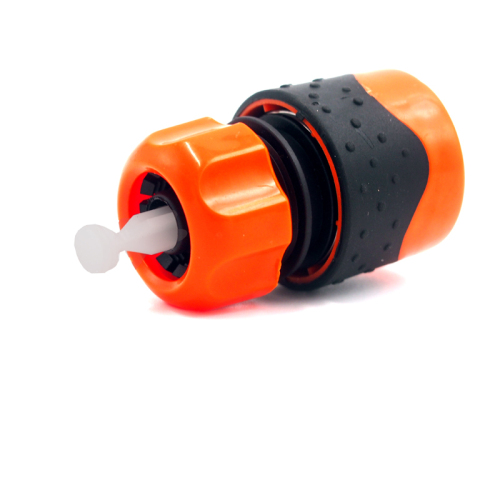 Plastic soft 1/2  water hose waterstop female quick connector