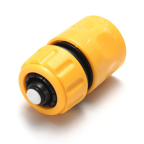 Plastic 1/2  Snap-In hose quick connector with waterstop