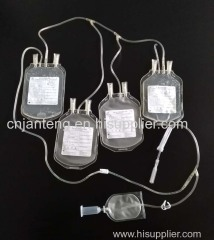 Blood transfusion quadruple bag