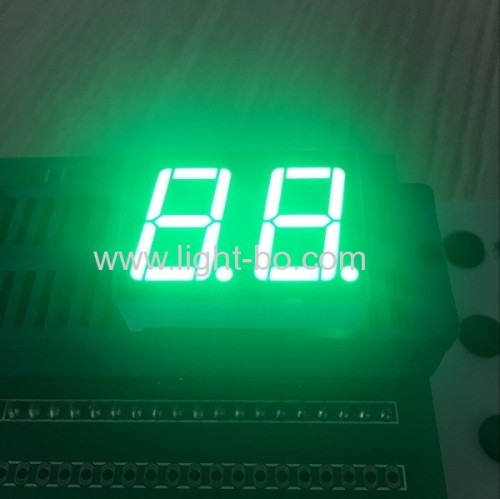 High brightness pure green 7 segment led display dual digit 0.56  common anode for home appliance